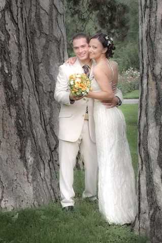 Mariage dans un parc