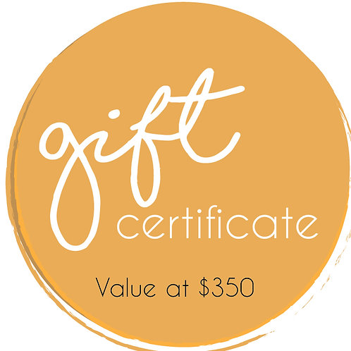 Gold Gift Certificate