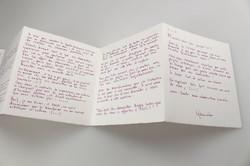 Lettre à S.Calle Geneviève Petermann