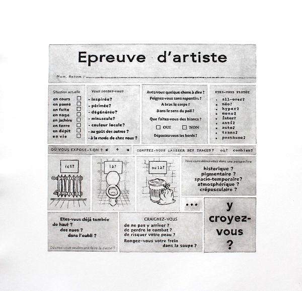Epreuv d'artiste, gravure sur cuivre, Geneviève Petermann