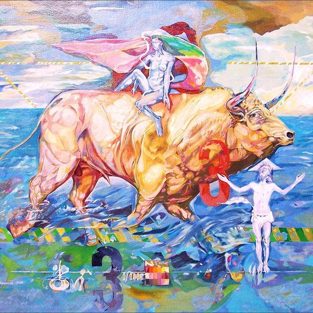"""The Rape  of Europe II"" triptych, central panel"