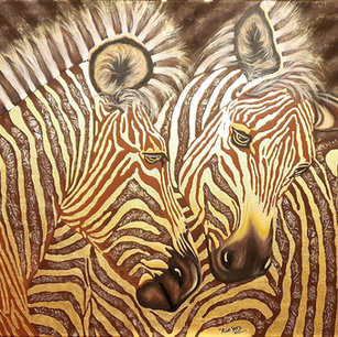 """Zebras in Gold"""
