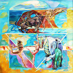 """""""The Rape  of Europe III"""" triptych, right panel"""