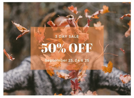 50% Off Fall-Back to Business Sale