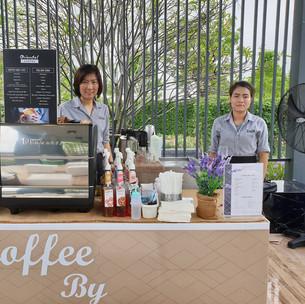 บริการกาแฟสดนอกสถานที่ บริการกาแฟ งานเปิดโครงการบ้านภัสสร