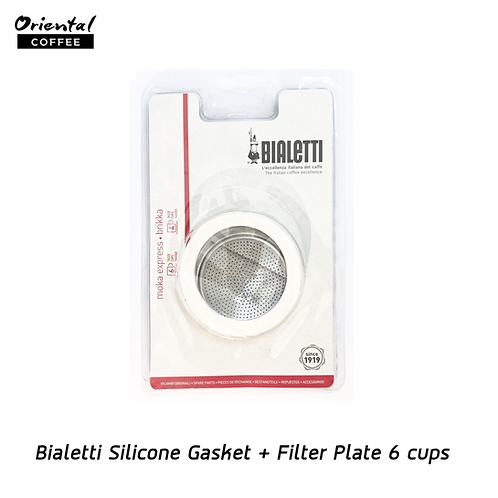 Bialetti  Silicone Gasket + Filter  Plate 6 cups