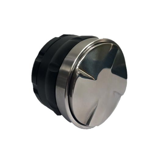 Macaron Design Adjustable  Coffee Tamper มาการองแทมป์ หน้า 4 ใบพัด สีดำ 58 mm.