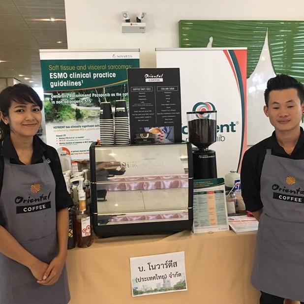 บริการกาแฟสดนอกสถานที่ งานงานประชุมวิชาการ Asian Cancer confere