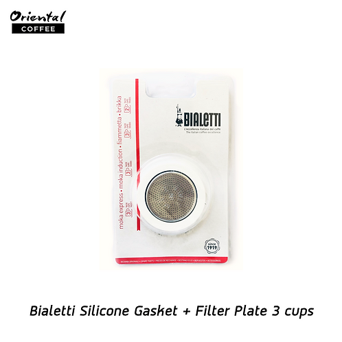Bialetti  Silicone Gasket + Filter  Plate 3 cups
