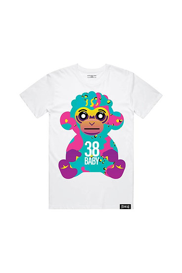 38 BABY COLORFUL CAMO MONKEY - WHITE