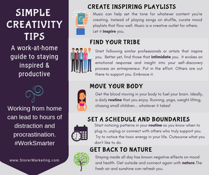 A Work-at-home guide to staying inspired