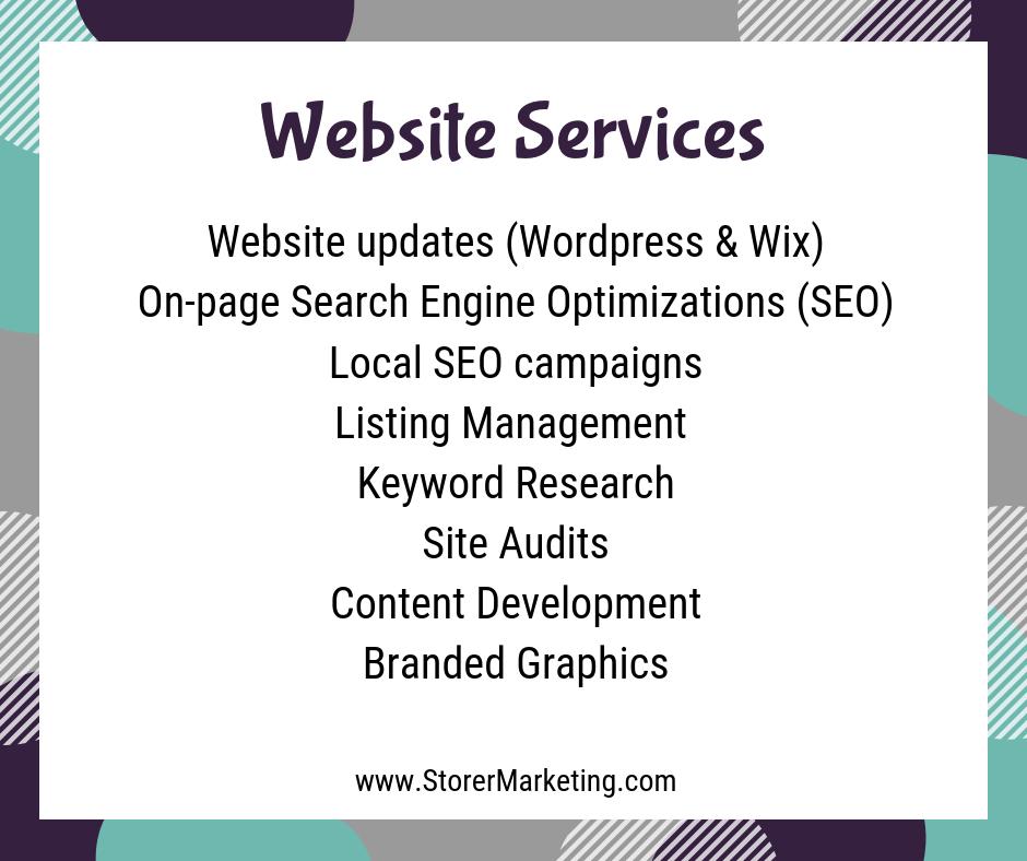 Storer Marketing: Website Services