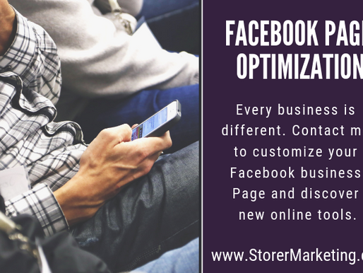 New to Facebook Business Pages? Let's explore Facebook Page Optimizations.