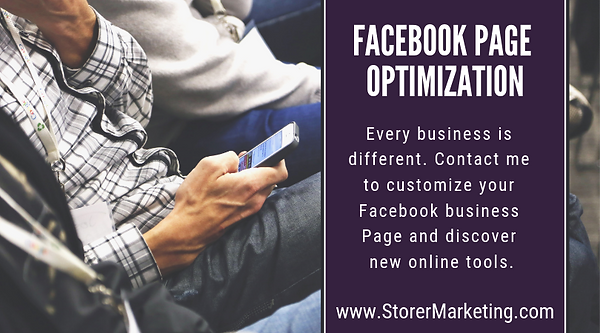 Facebook Page Optimization by Storer Mar