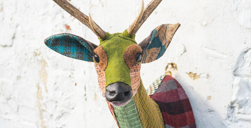 Carola van Dyke deer textile taxidermy.j