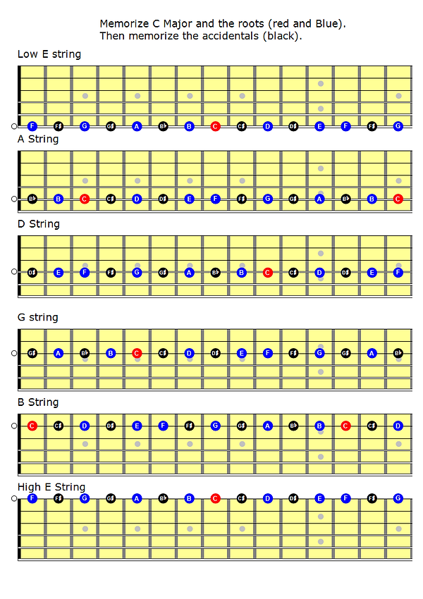 Memorize C Major scale and the Accidenta