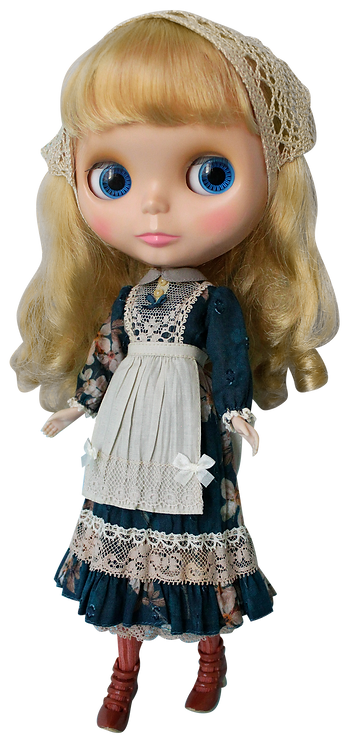 """Teal Garden Dress"" for Neo Blythe dolls"