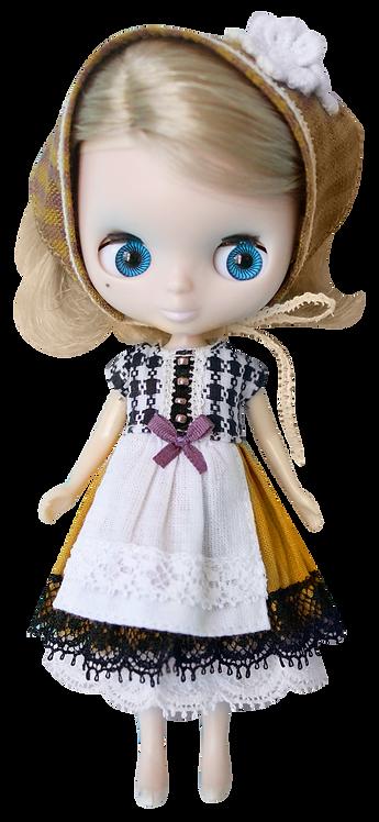"""Petite Gimgham Maid"" for Petite Blythe dolls"