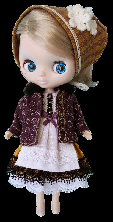 """Purple Jacket"" for Petite Blythe dolls"