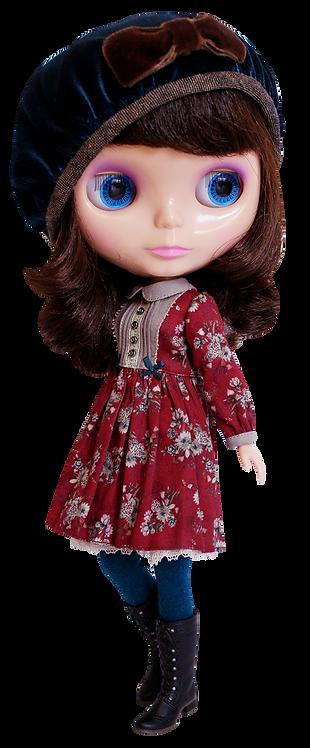 """Red Vintage Garden"" for Neo Blythe dolls"