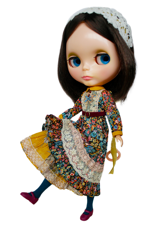 """""""Kenner Vibes Maxi Dress"""" for Neo Blythe dolls"""
