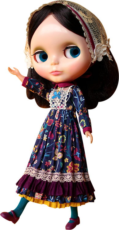 """""""Kenner's Magical Forest Dress"""" for Neo Blythe dolls"""