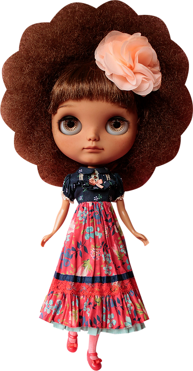 """""""Tropical Forest Dress"""" for Neo Blythe dolls"""
