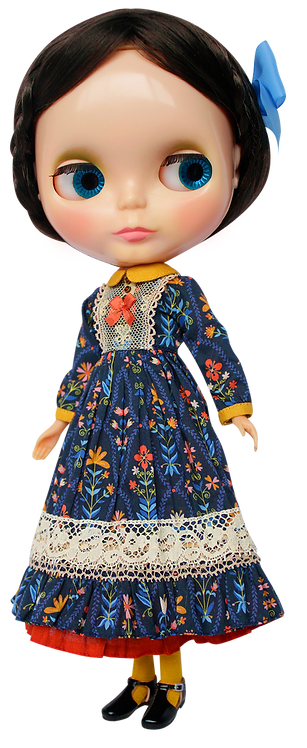 """Kenner Garden Maxi Dress"" for Neo Blythe dolls"