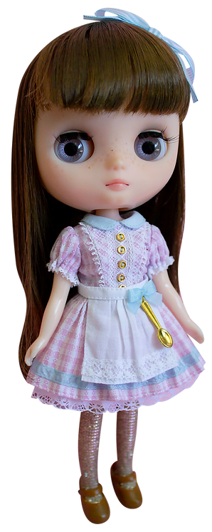 """Middie Gingham Dress"" Pink for Middie Blythe dolls"