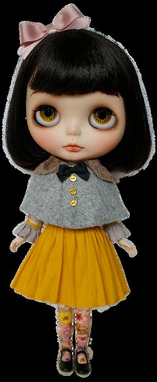 """Mustard Tea Party Dress"" for Neo Blythe dolls"