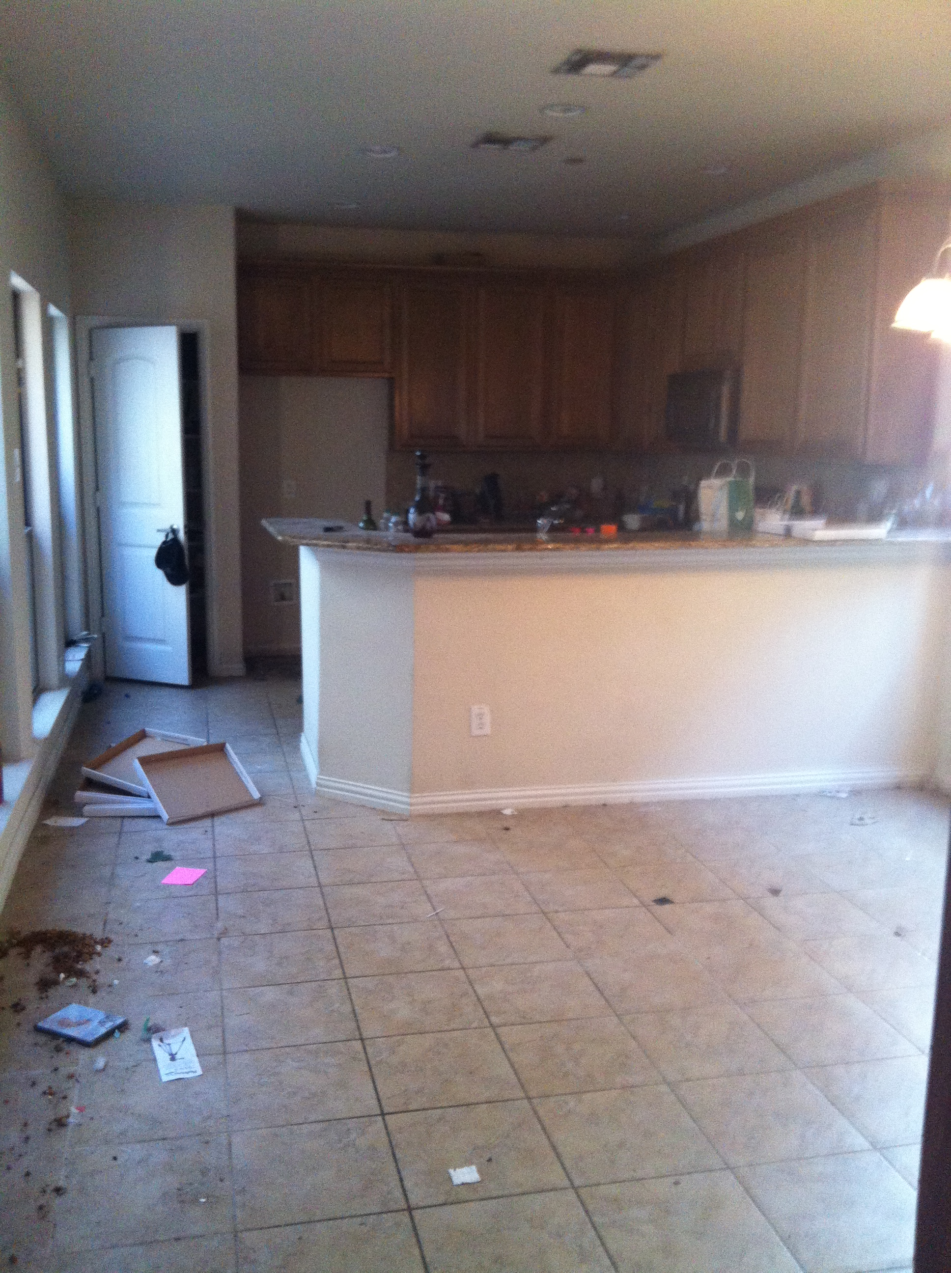 Before Full Clean Out, Redesign and move Tenant in