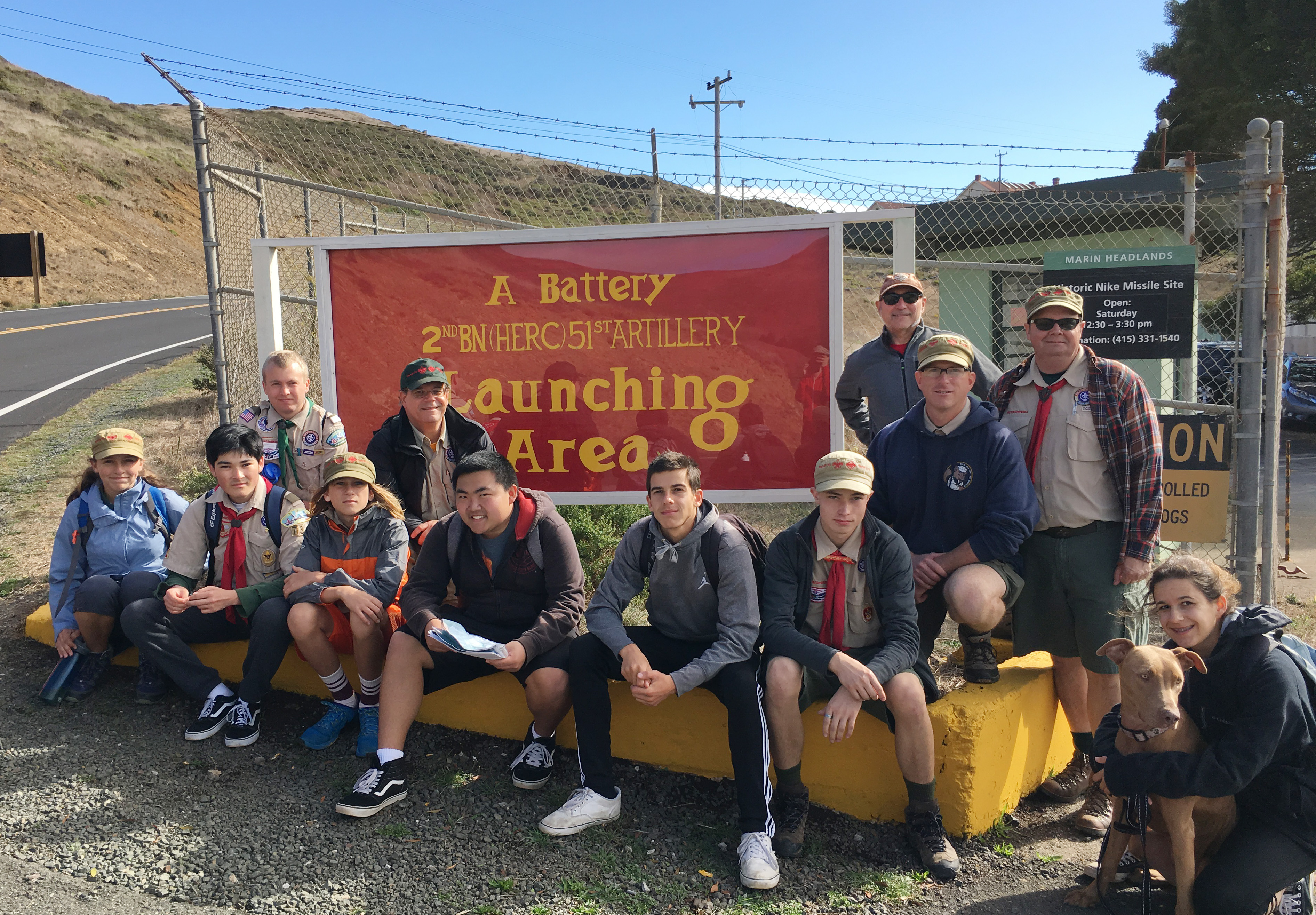 Troop 73 A Battery gate