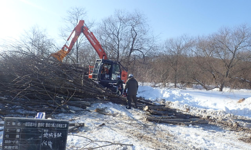 R3.2.23 幹線排水路の伐開ボランティア
