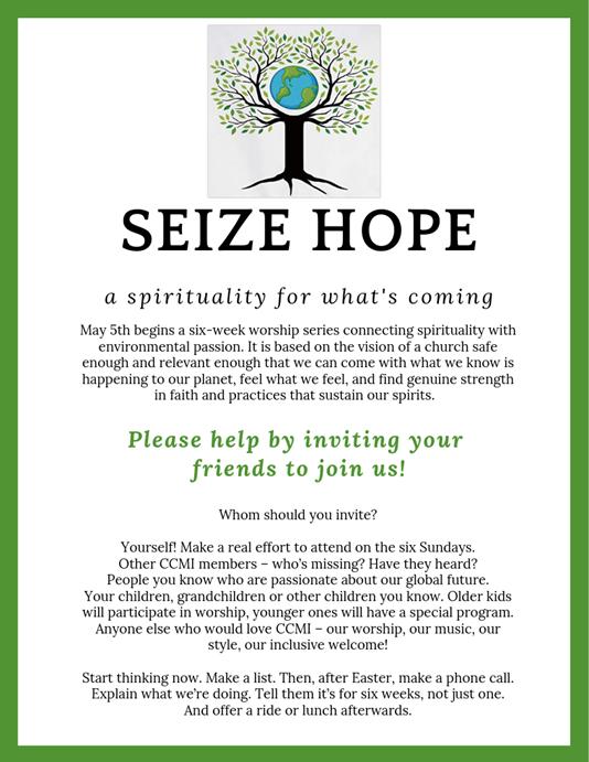 Seize Hope Flyer