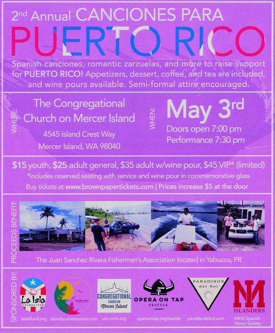 The 2nd Annual Canciones Para Puerto Rico Concert at CCMI