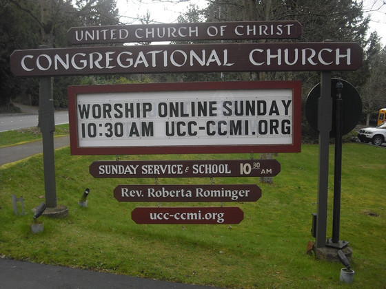 Sunday's worship will happen online