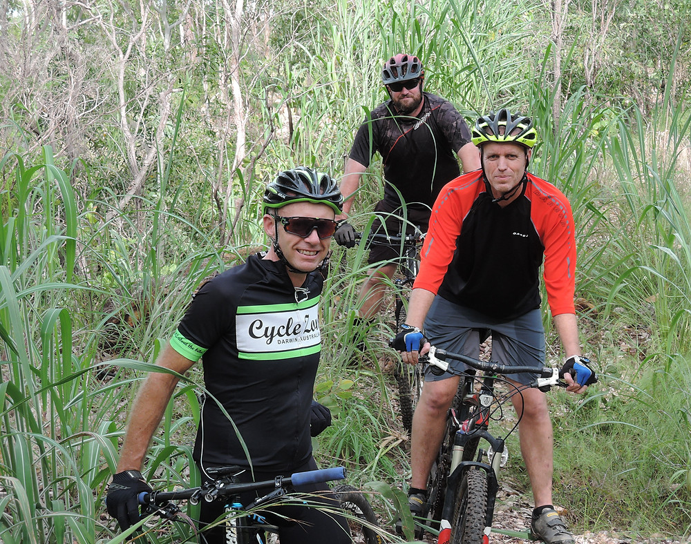 Photo: DORC's (Darwin Off-Road Cyclists) mountain bikers to tackle Gamba grass in Charles Darwin National Park