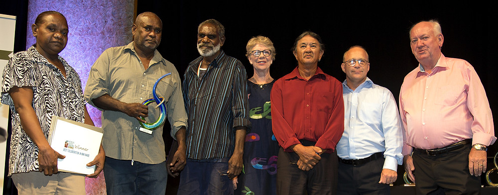 The Kenbi Rangers (Northern Land Council) and Ventia won the Best Collaboration in NRM Award