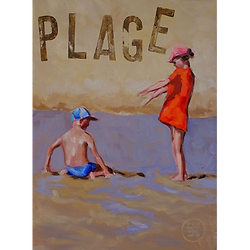 Bleu Dune | Deux enfants plage