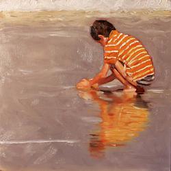 Bleu Dune | Enfant marée basse