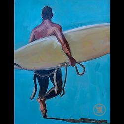 Bleu Dune | Surfeur dos