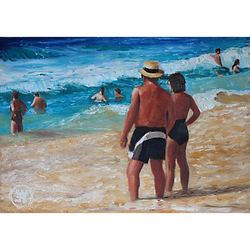 Bleu Dune   Couple plage
