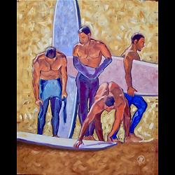 Bleu Dune | 4 surfeurs