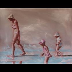 Bleu Dune   Mère et deux enfants II