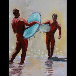 Bleu Dune | Surfeurs face à face