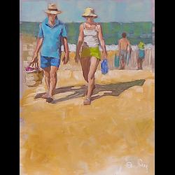 Bleu Dune   couple panier