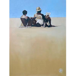 Bleu Dune   Couple seul plage