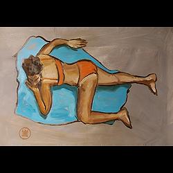 Bleu Dune   Allongée