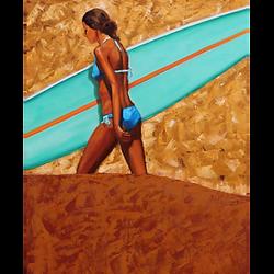 Bleu Dune | Surfeuse