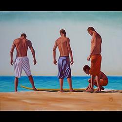 Bleu Dune | Quatre surfers